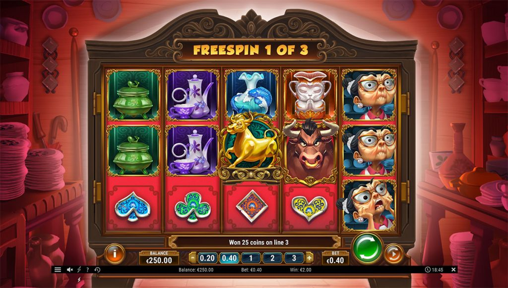 free spins bull in a china shop
